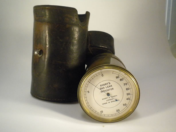 Antique gas leak meter from England
