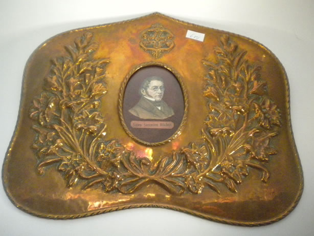 Antique copper frame with a portrait of St. St. Blicher