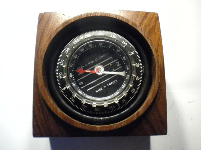 Recent Swedish Silva compass in wooden box