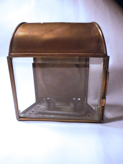 Antique lantern in brass