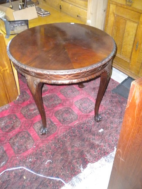 Salon table of mahogany
