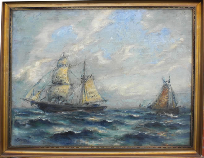 Old ships on the sea - O. Svenson