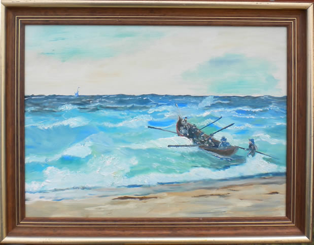 Lifeboats at Skagen's coast - Dybdal