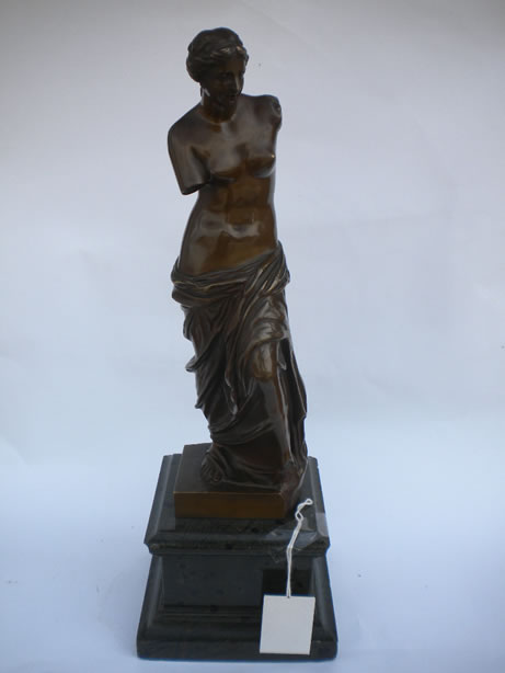 Bronze Figure on marble plinth