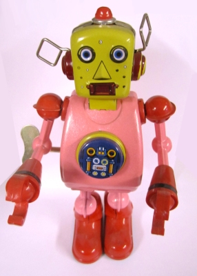 Retractable toy robot