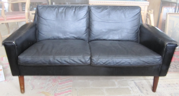 leather sofa 2 pers.